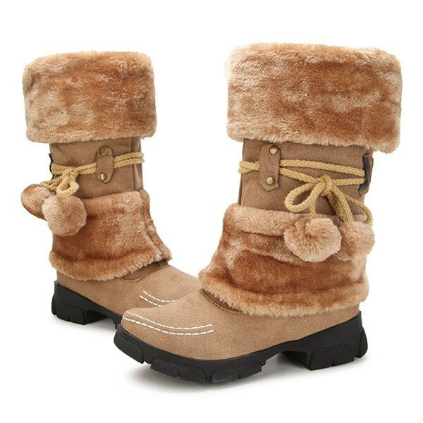 Winter Warm Lace Up Snow Boots