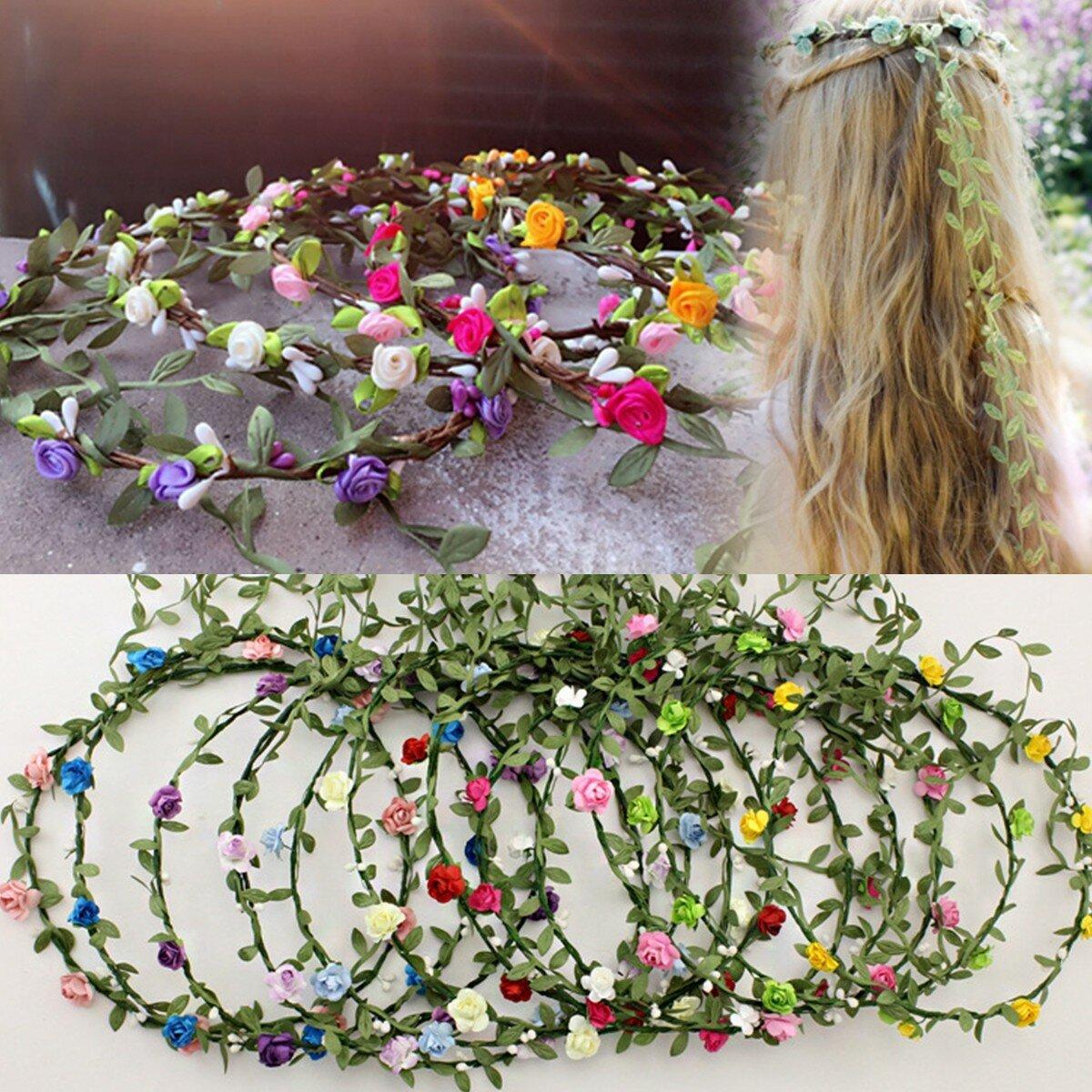Women Lady Girl Floral Festival Wedding Garland Hair Head Band