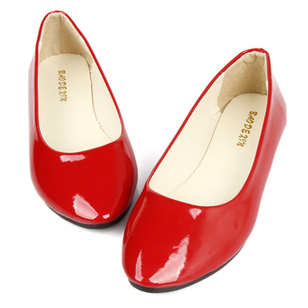 Big Size Candy Color Casaul Korean Style Slip On Pointed Toe Flat Loafers