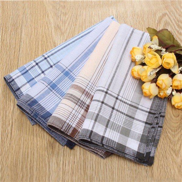 4x Mens хлопка Платок Hanky Handkerchief 38x38cm
