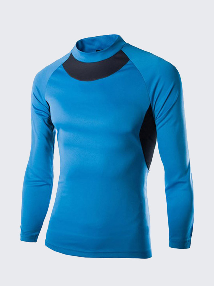 Men's GYM Quick-drying Sportwear Body-building Tights Long Sleeve T-Shirts