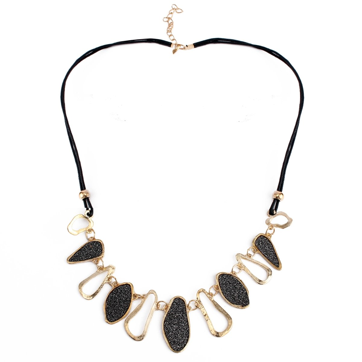 Frosted Irregular Geometric Collar Statement Necklace