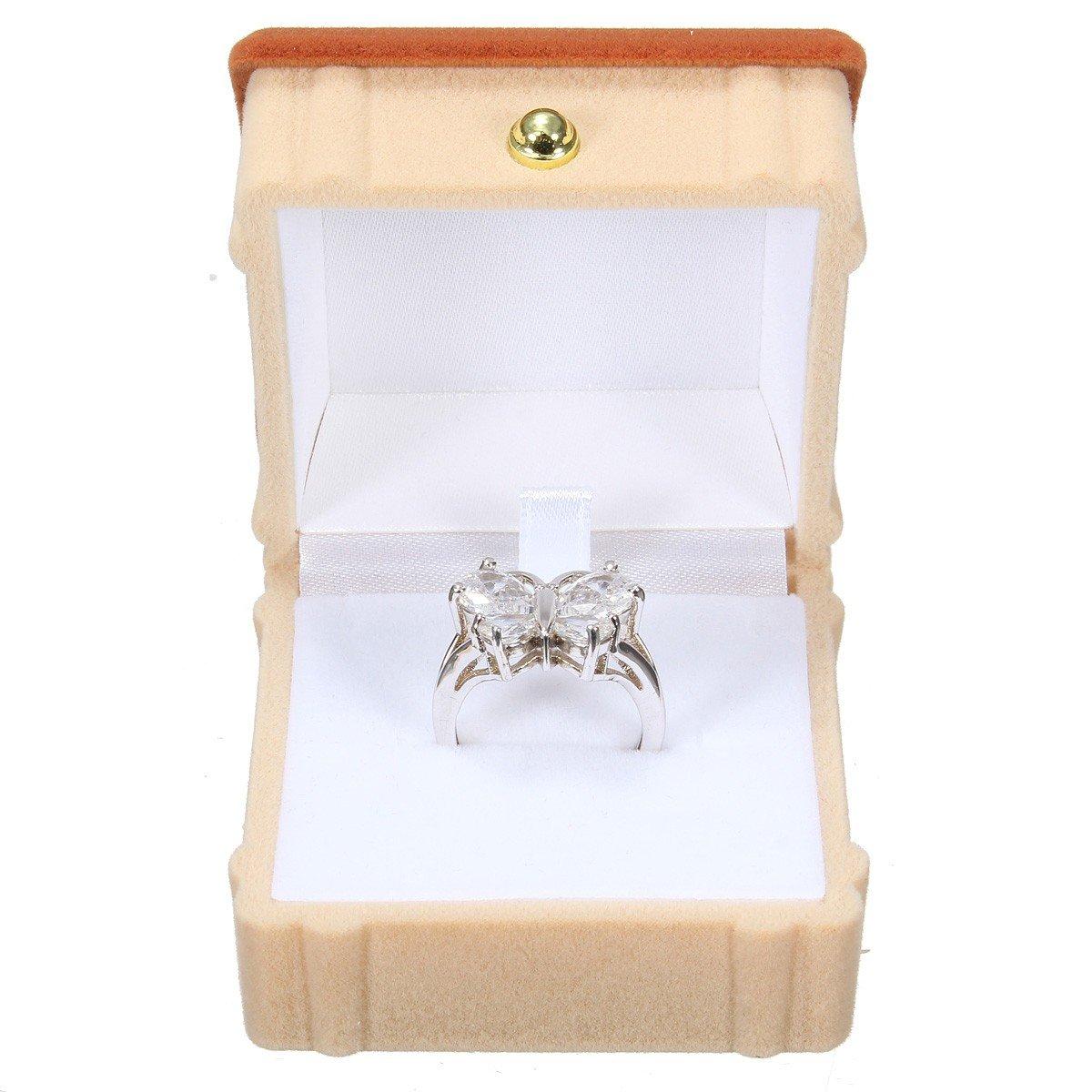 Velvet House Necklace Ring Jewelry Case