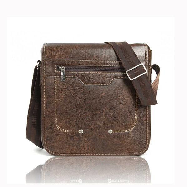 Men Crossbody Bag Casual Vintage PU Leather Shoulder Bags Messenger Bags