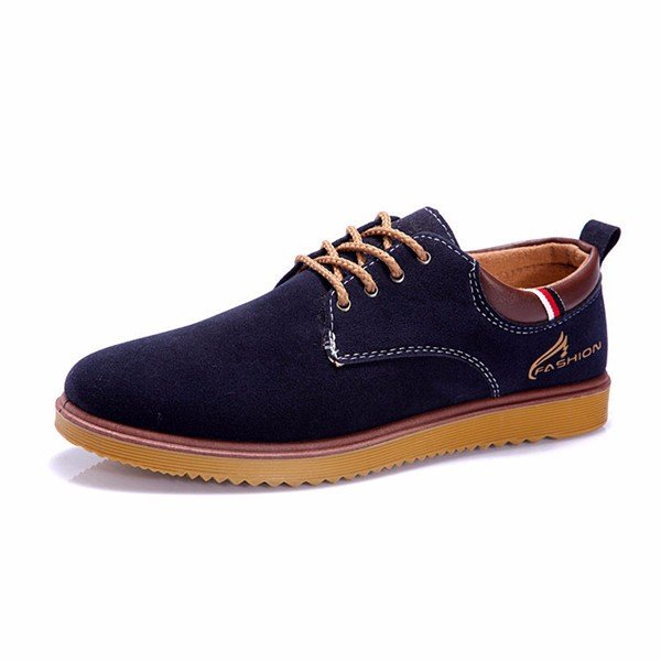 Men Suede European Style Lace Up Casual Oxford Shoes