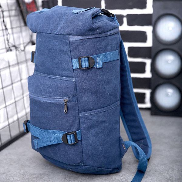Men Canvas Backpack Outdoor Sports Travel Casual Shoulder Bag