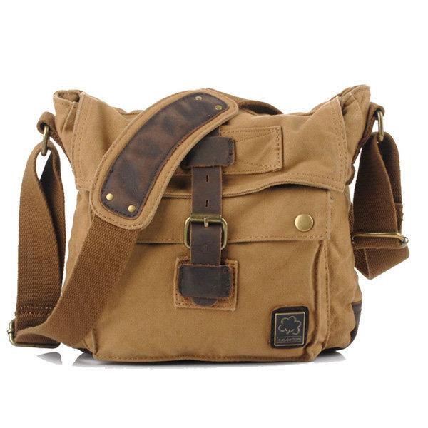 Мужчины Урожай Холст Crossbody мешок Открытый Путешествие ретро сумки на ремне