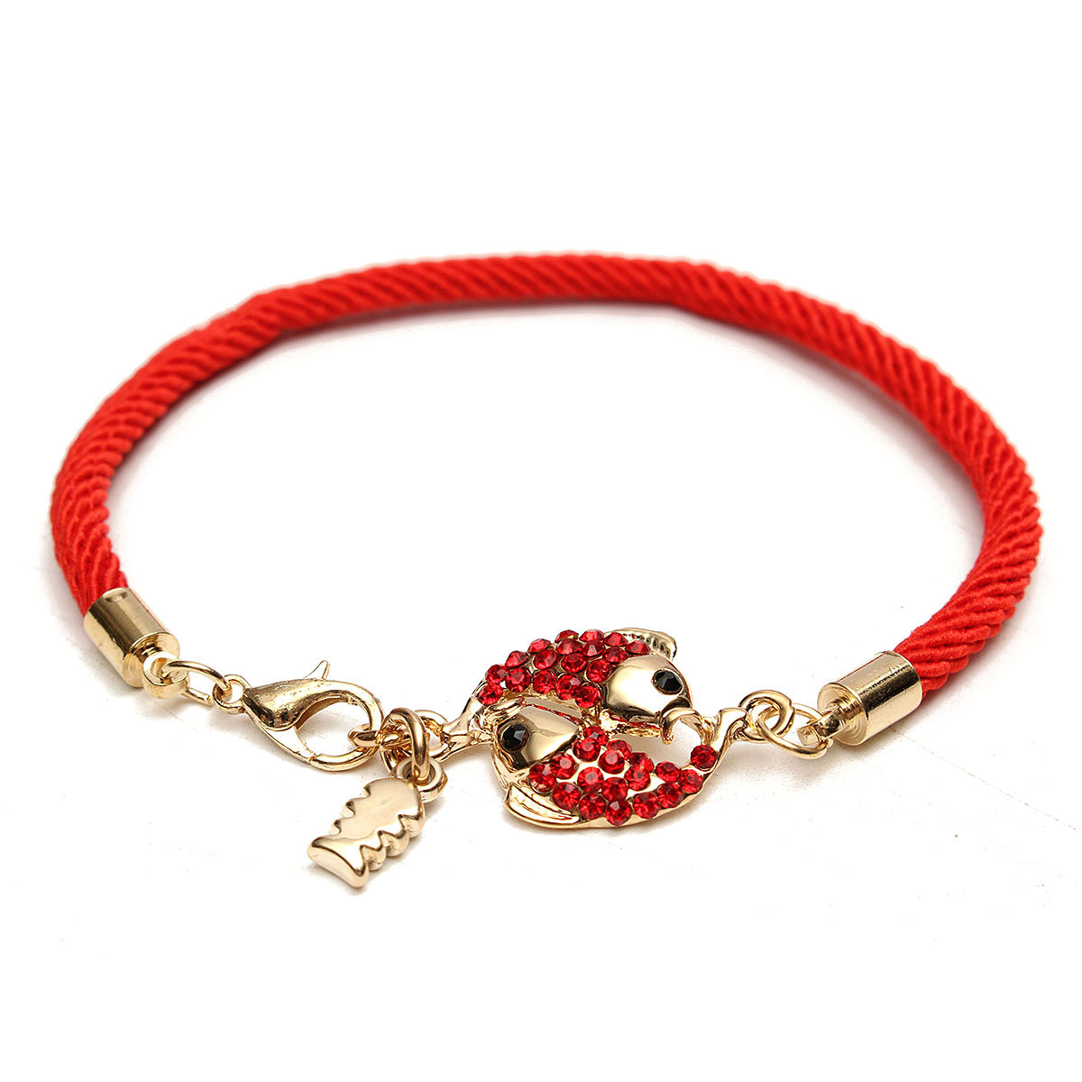 Chinese Lucky Red String Double Fish Bracelet