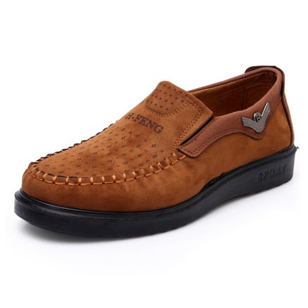 Old Beijing Style Canvas Comfortable Flat Slip On Casual Shoes For Men