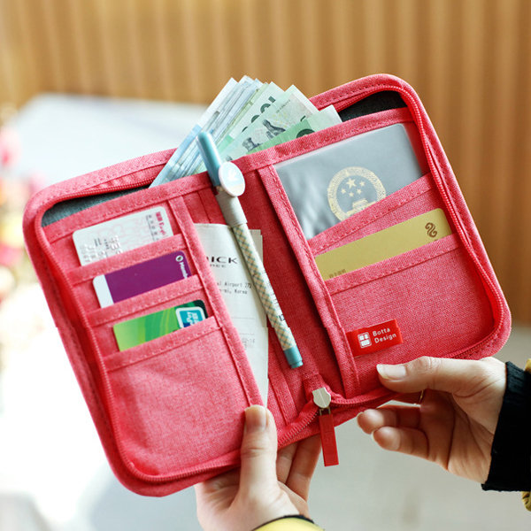 Women Men Nylon Casual Wallet Card Holder Documents Package Coins Bags Purse