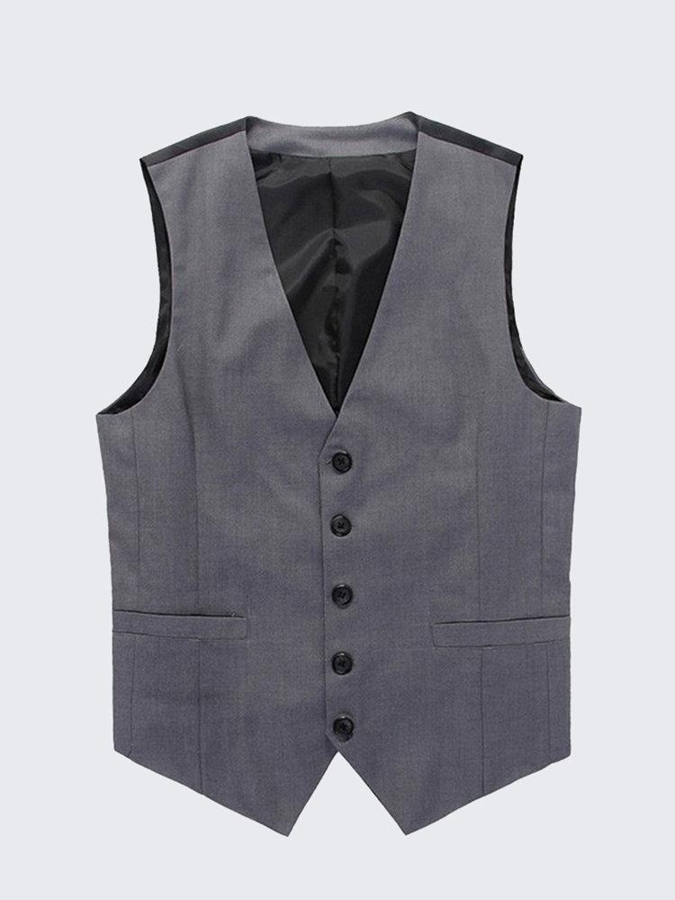 Men's Spring Fall Vest Stylish Slim Fit Business Waistcoat Leisure Cotton Blend Gilet