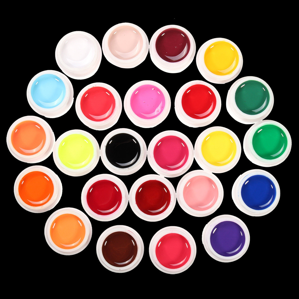 24 Colors Liquid Pure Manicure Nail Art UV Gel Builder Decoration Set