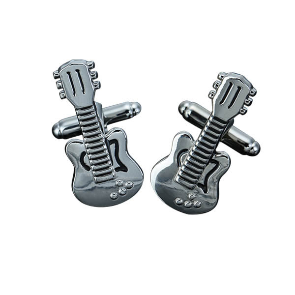Men Violin Musical Instrument Pattern Silver Cufflinks Wedding Gift Suit Shirt Accessories