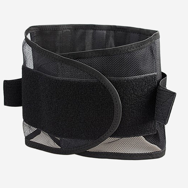Adult Ultrathin Breathable Mesh Lumbar Support Belt Steel Plate Protection Support Waist Belt