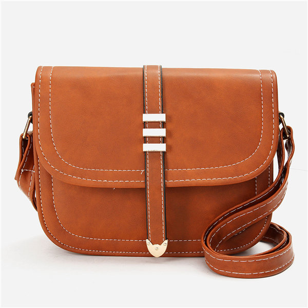 Women Casual Vintage PU Leather Crossbody Bags Shoulder Bags