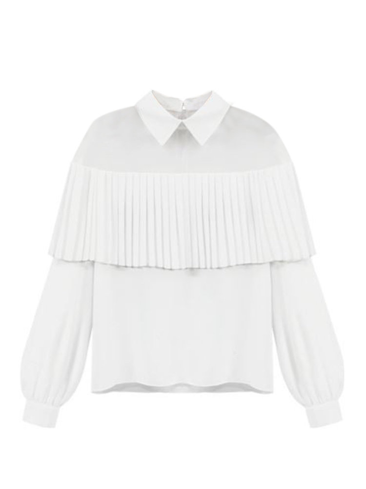 Женщины Mesh See Through кисточкой с длинным рукавом шифон Solid Блуза