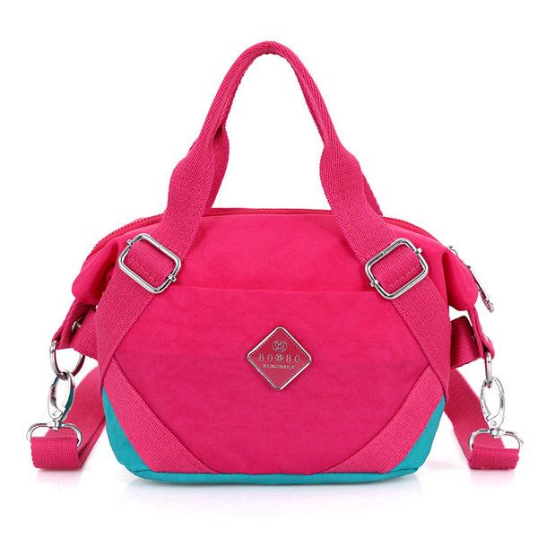 Женщина нейлон Симпатичные сумки Элегантный Лоскутная Crossbody сумка сумки на ремне