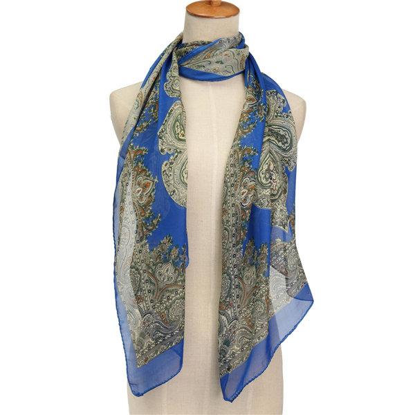 Женщины шифон Урожай Печатный Цветочный шарф шаль Украл Wrap шеи Теплый PASHMINA