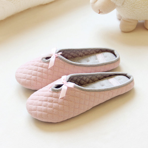 Butterfly Knot Hollow Out Cute Indoor Home Floor Shoes