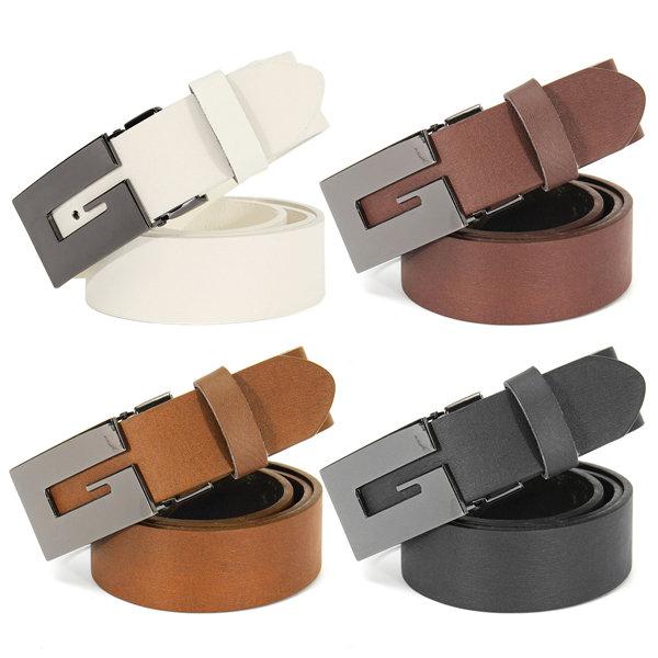 Men's Casual Waistband Automatic Buckle Belt Waist Strap PU Leather Belts