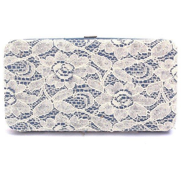 Fashion Women Lace Button Long Wallet