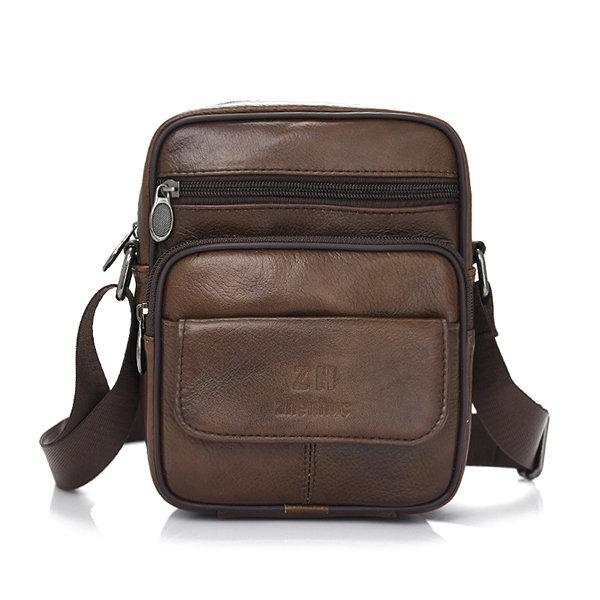Men PU Leather Business Crossbody Bags Retro Shoulder Bags