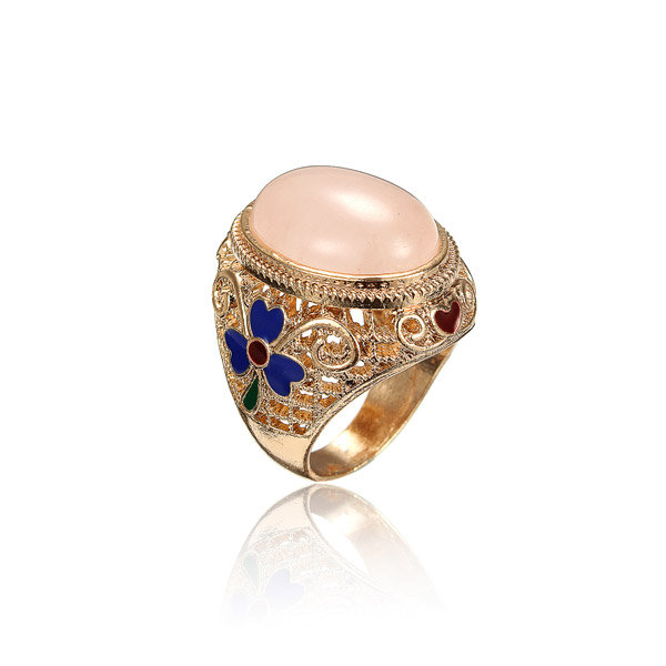 Ethnic Style Jewelry Cloisonne Copper Fetal Couples Rings