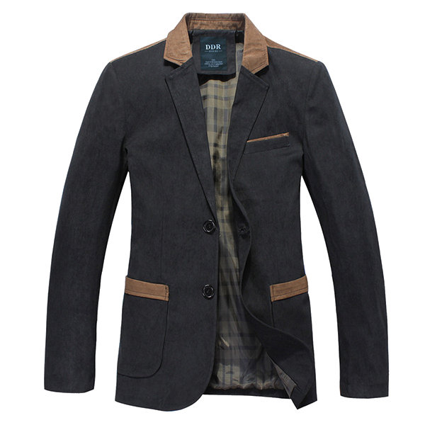 British Style Casual Business Stitching Jacket Slim Fit Blazer For Men