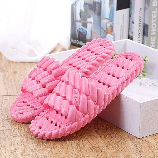 Унисекс EVA Pure Color Лето мягкой подошвой Закрытый дом обуви Тапочки