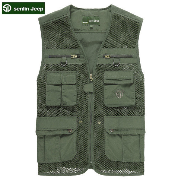 Outdoor Fishing Photography Vest Breathable Quick Dry Mesh Sleeveless Vest For Men