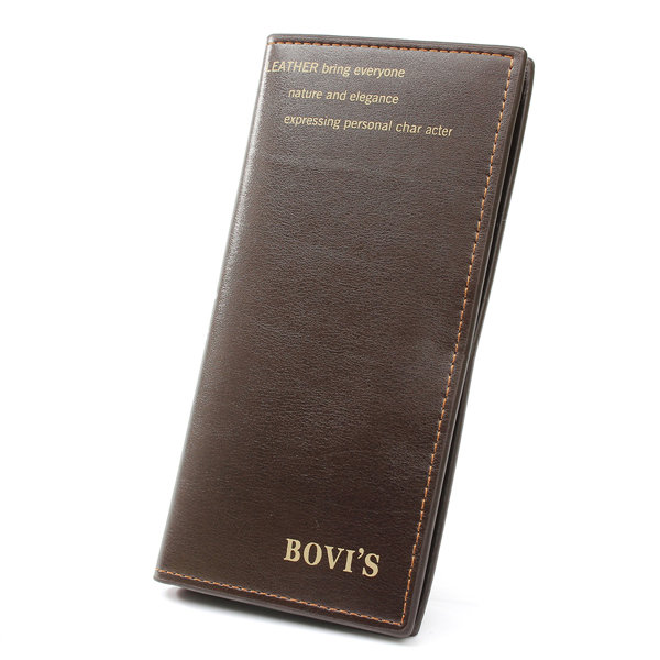 Men Casual Vintage Business Long Wallet Leisure Cash Cards Purse