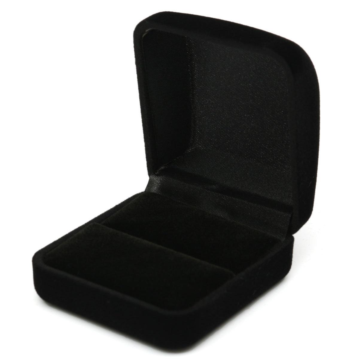 Бархатная кольцо серьги ожерелья Jewelry Box