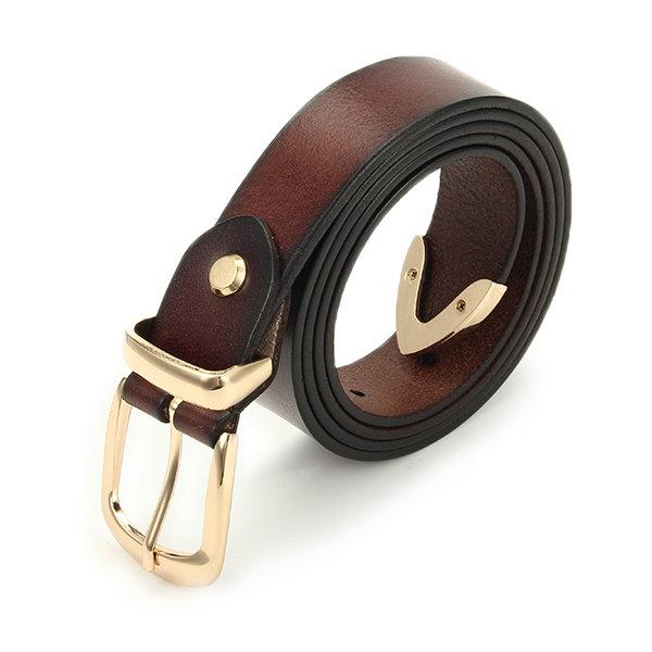 Женщины кожаные ремни пряжки Pin джинсы ремешок Waistband