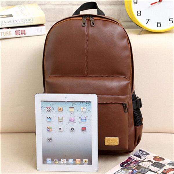 Повседневная Мужчины Кожа PU Рюкзак для ноутбука Открытый Школа Учиться в России