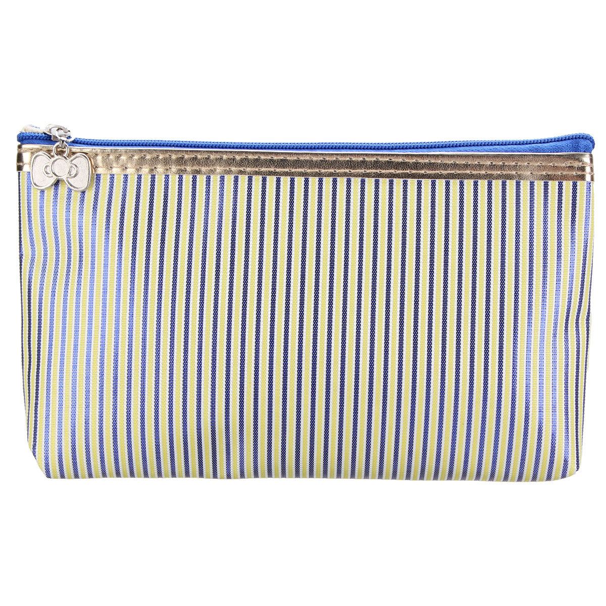 Classical Striped Women Quadrate Makeup bag