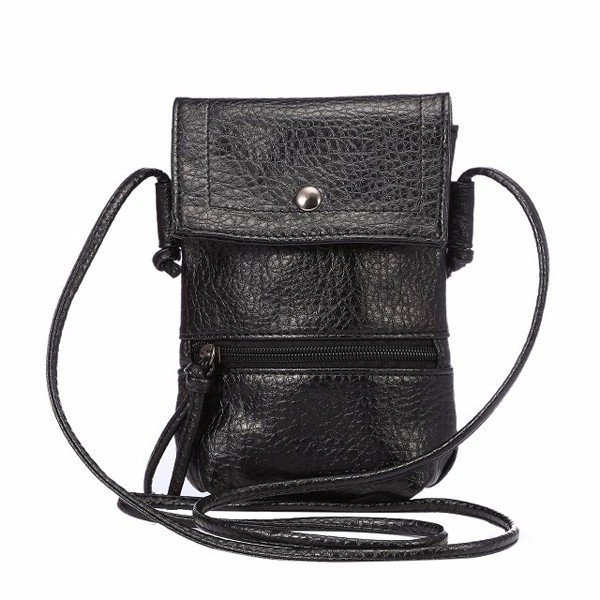 Women PU Leather Vintage 6.3inch Shoulder Phone Bag For iPhone Samsung Xiaomi Sony Huawei
