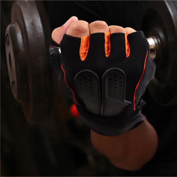 Men Half Fingers Long Wrist Fitness Gloves Exercise Bicycle Breathable Gloves