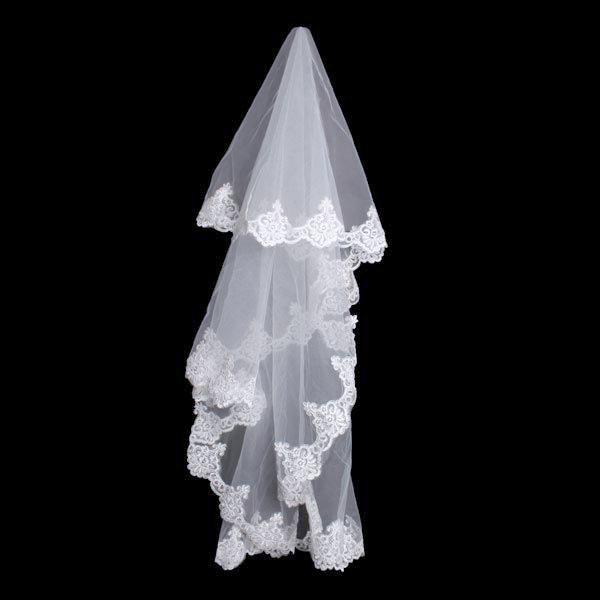3M Aew Long Lace Bridal Veil Wedding Accessories