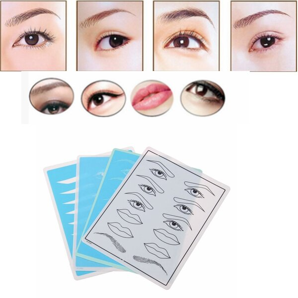 Makeup Eyebrow Eye  Lips Tattoo Practice Training Skin For Beginners