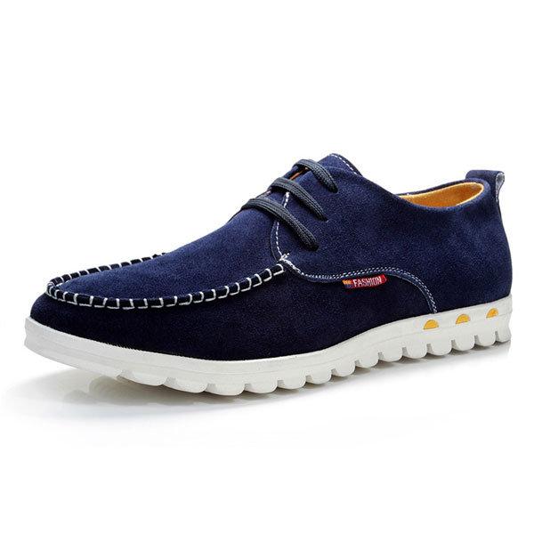 Большой размер Мужчины замша Pure Color Британский Стиль Casual Узелок плоские туфли