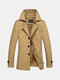 Winter Casual Business Thicken Warm Solid Color Suit Collar Jacket for Men