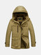 AFSJEEP Plus Size Winter Thicken Casual Multi Pockets Detachable Hood Padded Jacket for Men
