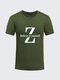 Mens S-4XL Summer T-shirts Cool Letter Printing Short Sleeve Cotton Top Tees