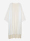 Tassels White Long Beach Lace Women Cardigans