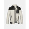 Plus Size M-6XL Casual Outdoor Mosaic Stand Collar Jacket For Men