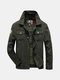 Mens Autumn Winter Outdoor Single Breasted Turndown Collar Casual Cotton Jacket Coat