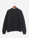 Women Pure Candy Color Casual Long Sleeve Fleece Sweatshirt