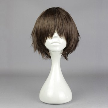 Buy Brown Straight Short Cosplay Wig Synthetic Anime Costume Hair