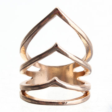 Punk Metal V Shaped Arrow Midi Knuckle Ring