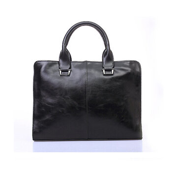 Buy Men Casual PU Leather Laptop Business Handbag Leisure Shoulder Bag